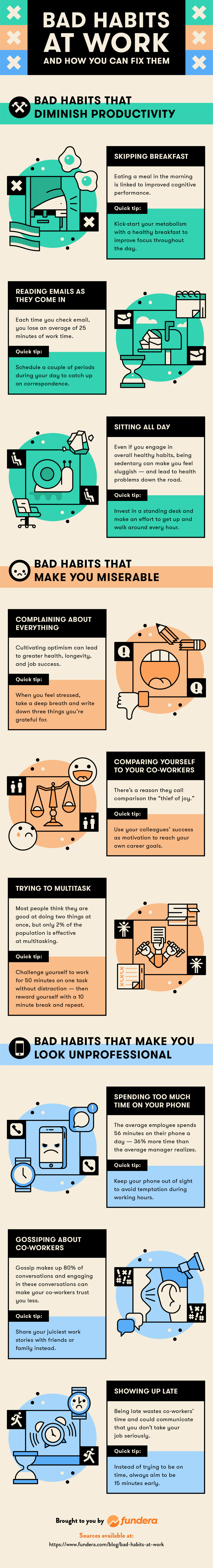 9 bad habits at work and how to fix them